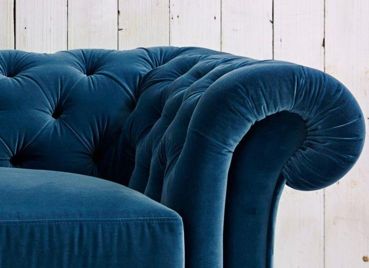 Velvet Chesterfield Sofa Bed - Churchill Arm detail