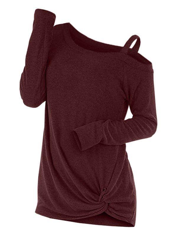 15e3f9e5761 Knotted Cut Out Sweater
