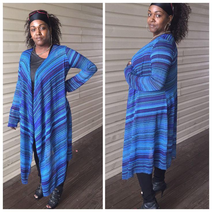 Multi colored light weight waffle knit drape cardigan by Siri2Siri on Etsy