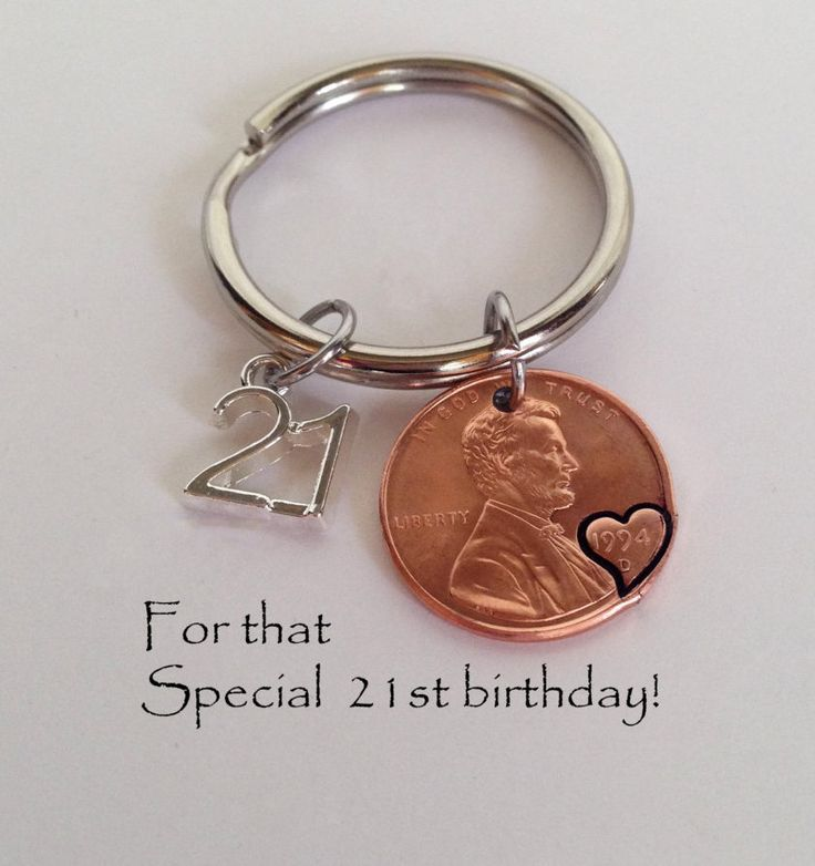 21st Birthday, Personalized 21st Birthday Gift, 21st Birthday Gift, 21 Gift Keychain, Penny Keychain, 21st Birthday Party Gift, Lucky Penny by SincereImpressions on Etsy