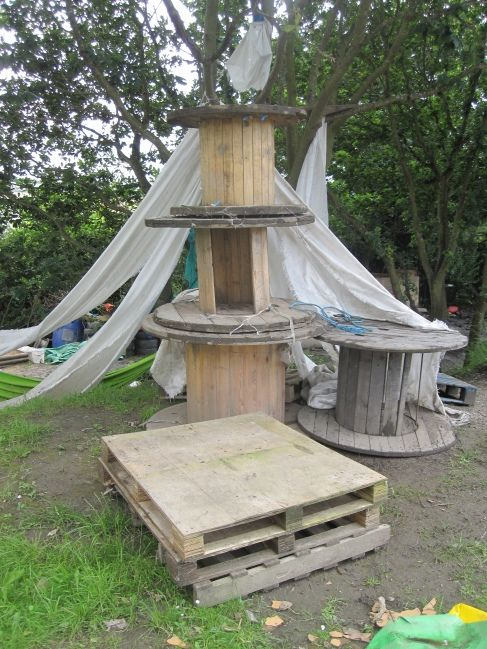 Adventure playgrounds give children materials to allow children to construct their own playgrounds. ≈≈ Pinned via nora tokunaga http://www.pinterest.com/littlelights11/ideas-for-outdoors-environments/
