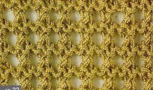 Patrón #1442: Punto Calado a Dos Agujas | CTejidas [Crochet y Dos Agujas]