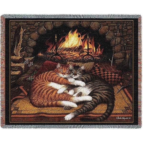 Charles Wysocki | All Burned Out | Cotton Cotton Throw Blanket | 70 x 54 - Cat Gifts for People
