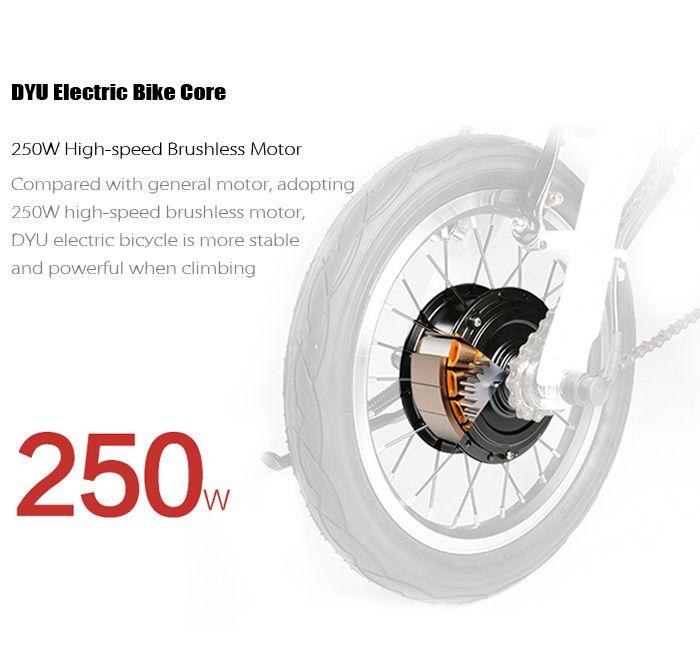 F - wheel DYU - 1 14 inch Smart Folding Bike Electric Moped