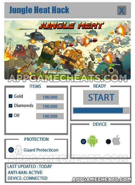 Jungle Heat Hack Cheat 2016 tool download. With updated Jungle Heat Hack you will have just fun. Try Jungle Heat Hack tool. Jungle Heat Hack working with last update.