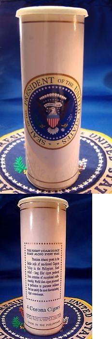 Bill Clinton: President Bill Clinton Era White House Presidential Seal Cigar Tin-4 Cigars -> BUY IT NOW ONLY: $174.95 on eBay!