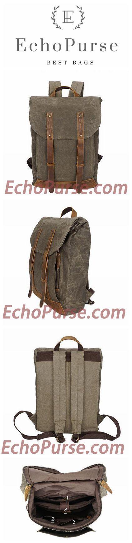 Canvas Backpack, Vintage Waterproof Travel Fashion Bag For Man YD162