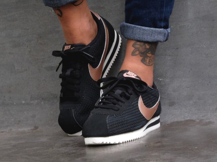nike cortez black and rose gold christmas