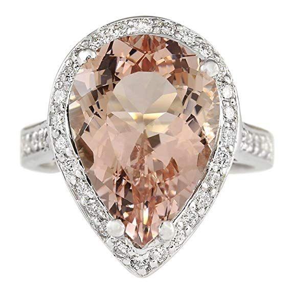 Silver Gems Factory Heart Shape Created Dark Green Peridot /& CZ Created Diamond 14k Yellow Gold Finish Alloy Engagement Wedding Bridal Set Claddagh Ring