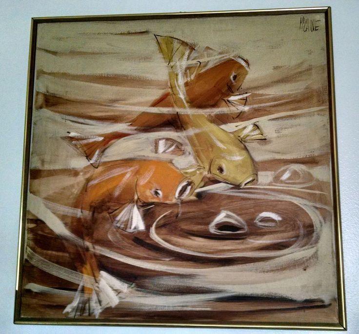 Original Mid Century Modern Oil Painting by Palm Springs ...