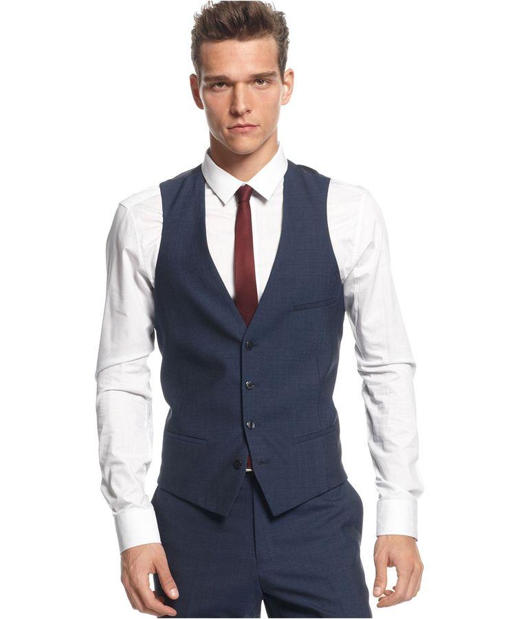 Bar Iii Vest Midnight Blue Slim Fit Suits Amp Suit