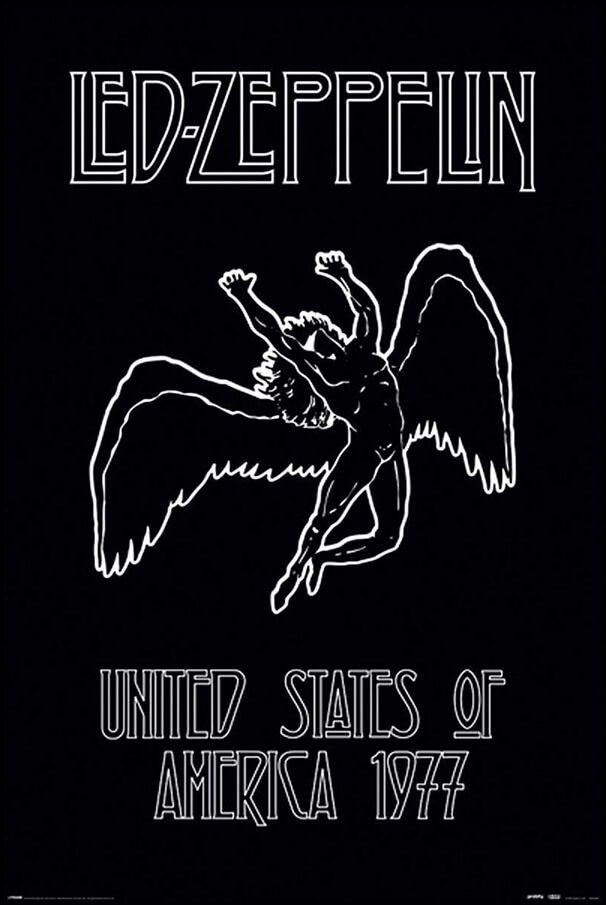 Led Zeppelin United States Of America 1977 Plakat Galeria Plakatu Led Zeppelin Poster Rock Band Posters Led Zeppelin Wallpaper