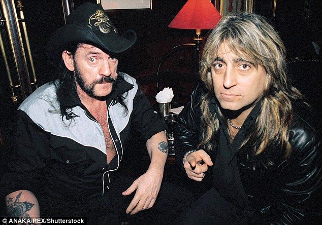 Motörhead frontman Lemmy, left, with drummer Mikkey Dee, right, in 2002