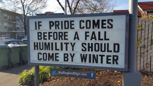 If only humility was achieved that easily.