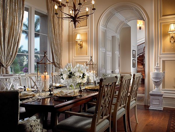 Gorgeous room by Rogers Design Group. The architectural details are perfect.