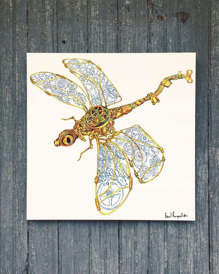 Paul Reynolds - BioMech Dragonfly Print