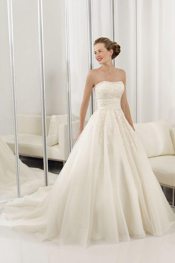 Princess Wedding Dress with Pompous Appliqués, Celebrity Wedding Dresses - dressale.com