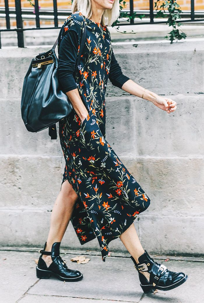 The Freshest Way to Wear Florals This Fall via @WhoWhatWear