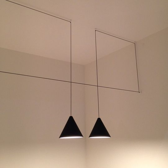 Black pendants... perfect for a modern style! #InteriorDesign #Lighting #Lamp