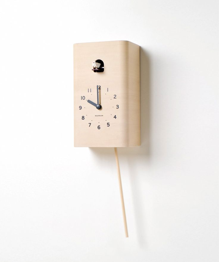 cuckoo clock is made from high quality polished plywood that also has a second swinging woode