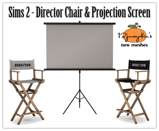 Sims 2 Directors Chair U0026 Projector Screen | Hell Has Spoken