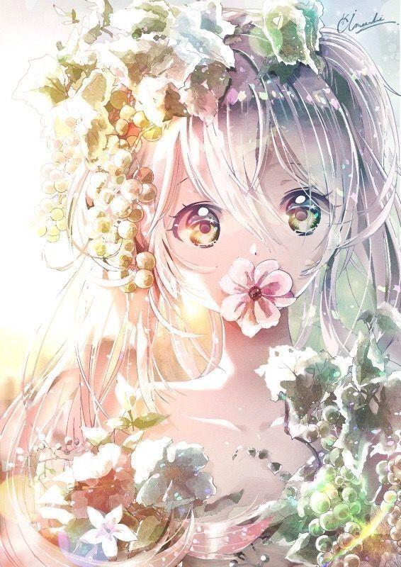 Beautifull girl 💞 Anime flower, Anime art beautiful
