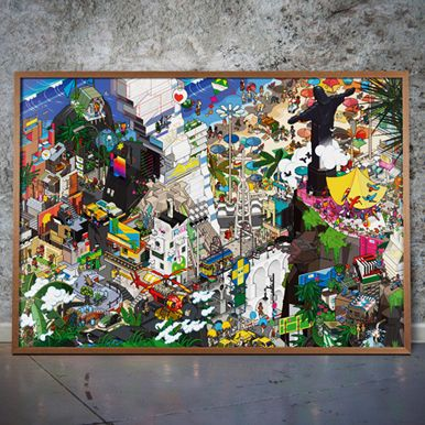 Pixel Poster Prints From Berlin on POP.COM.AU Eboy #eboy #popaustralia #artprint