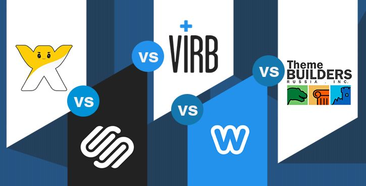 """This is your """"all you need to know"""" cheat sheet to find out who's the winner of theWix vs Squarespace vs Virb vs Weebly vs WordPress theme builders fight."""