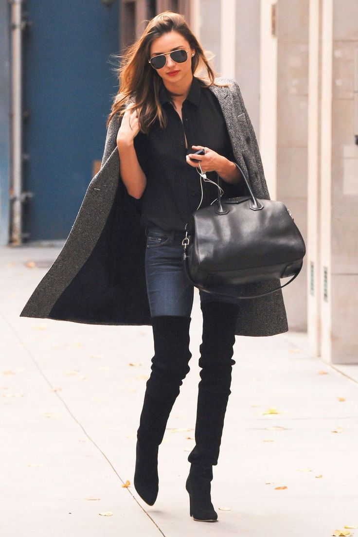 Great outfit! Perfect over the knee boot look