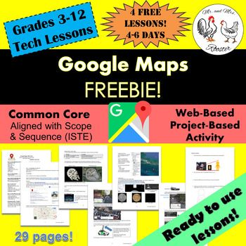 FREE Google Maps Mini-Unit! Student and Teacher tutorials provided! (Grades 3-12)In this Mini-Unit, you and your students will explore the earth using Google Maps, Google Earth, Google My Maps, Street View, Ocean View, Sky and Space View, Time-Travel, Historical Timeline, Sunlight Model, Flight Mode, and go on an Address Hunt using specific addresses, coordinates, and country geographics!