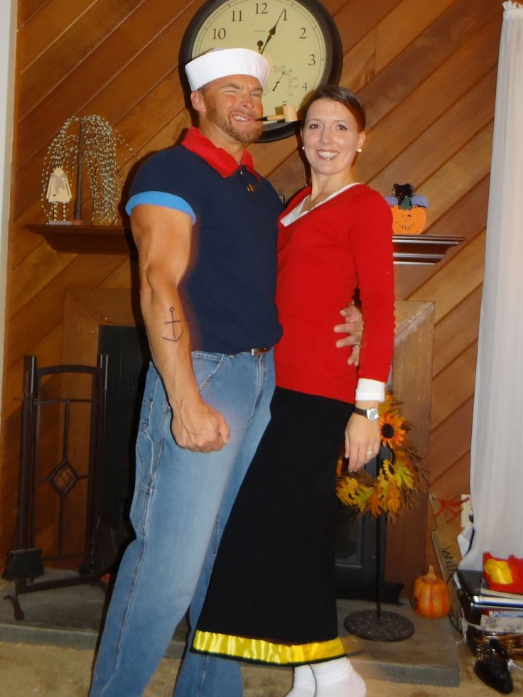 Homemade popeye and olive oyl halloween costumes easy craft ideas 10 best popeye olive oyl diy costume images on pinterest solutioingenieria Image collections