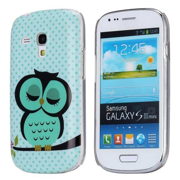 Slapende uil hardcase hoes voor Samsung Galaxy S3 mini