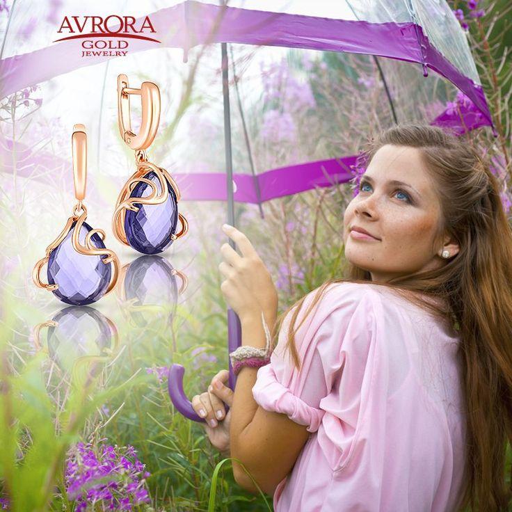 В любую погоду вы можете быть неотразимы и оригинальны!  #avroragold #аврораголд #девушка #украшения #золото
