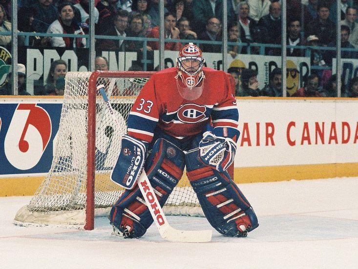 Patrick Roy goalie stance wearing koho gear. #lefevre #koho #patrick #roy #canadiens #lefevbre #koho #saint #patrick #stance #habs
