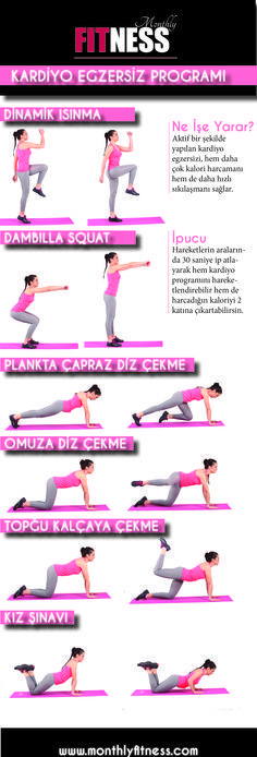 KARDİYO egzersiz programi. KALORİ HARCAMAK İÇİN