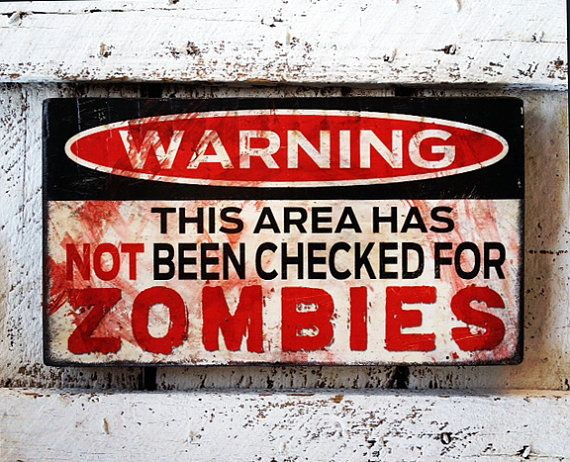 Zombies Fan Zombie / Zombie Apocalypse / Zombie Decor by SignNiche, $30.00