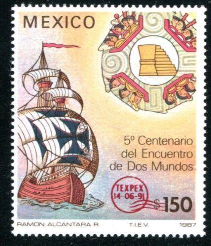 Timbre Postal Mexicano de 1987. Edición Limitada. Valor 150 Pesos.