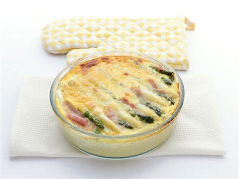 Ovenschotel met asperges en ham