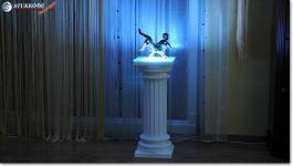 Polisztirol oszlop dekoráció RGB Led világítással