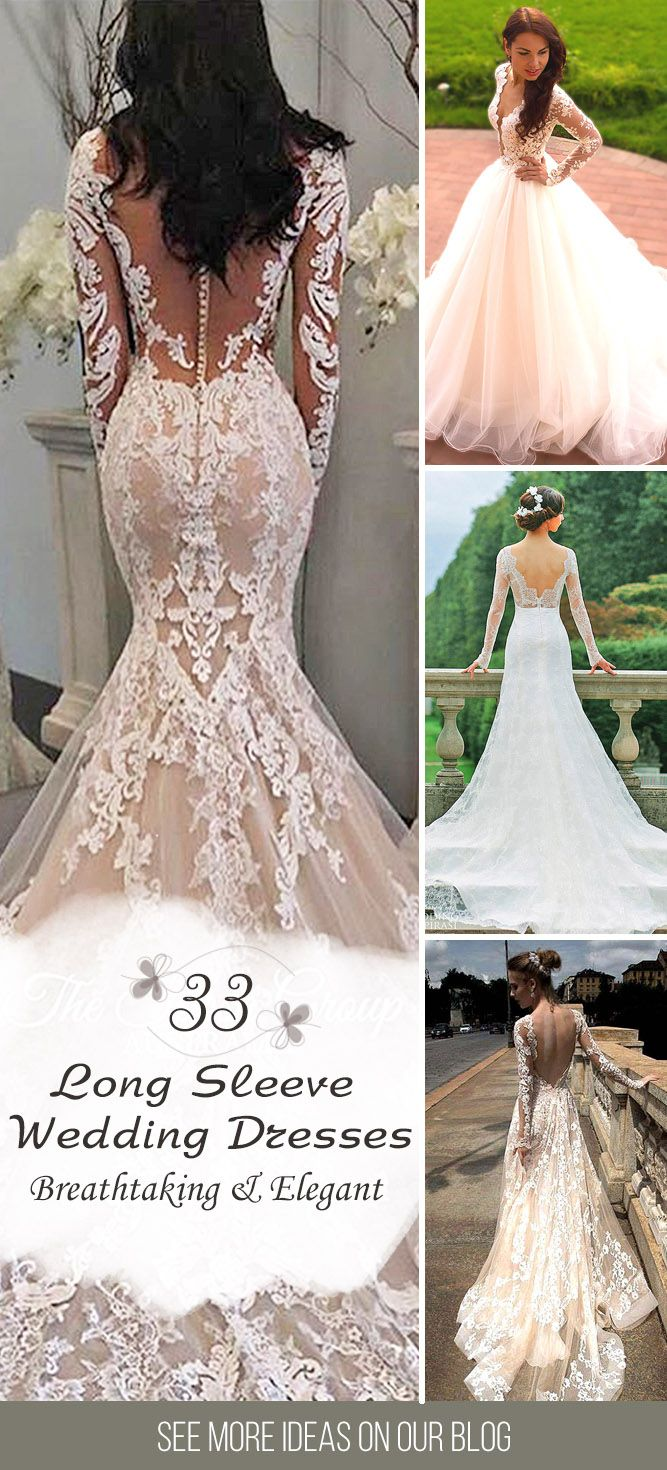 33 Chic Long Sleeve Wedding Dresses ❤ We were inspired charming wedding dresses with long sleeves. Long-sleeve gowns can be breathtaking, elegant and totally modern. See more: http://www.weddingforward.com/long-sleeve-wedding-dresses/ #wedding #dresses #long #sleeve