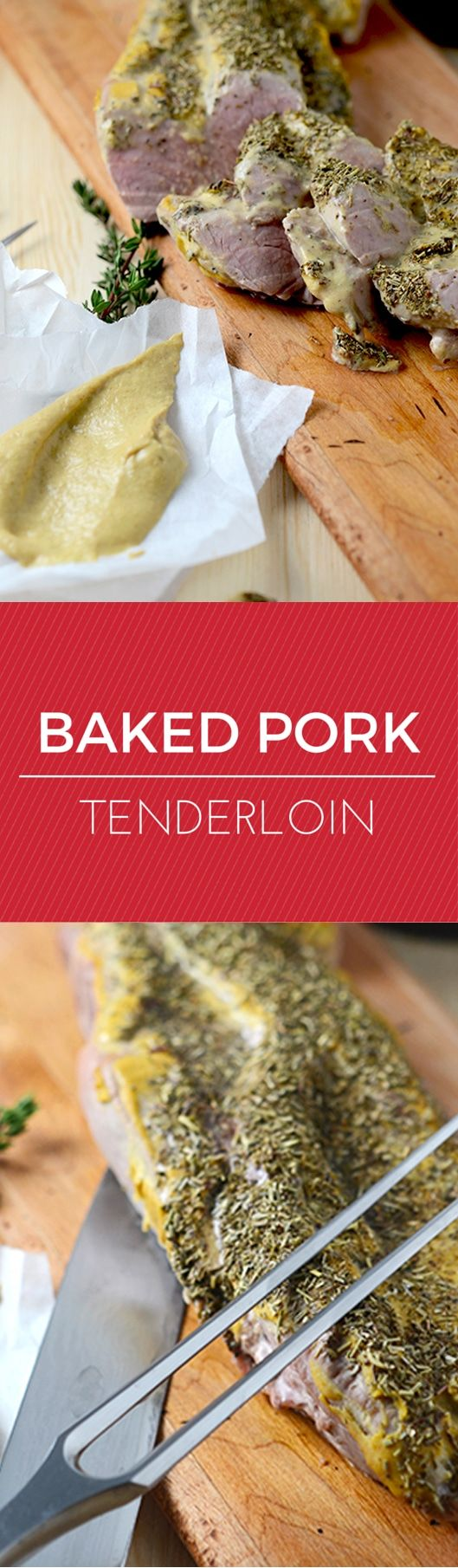 A perfectly easy baked pork tenderloin recipe with only 3 ingredients! Can't get easier than this!