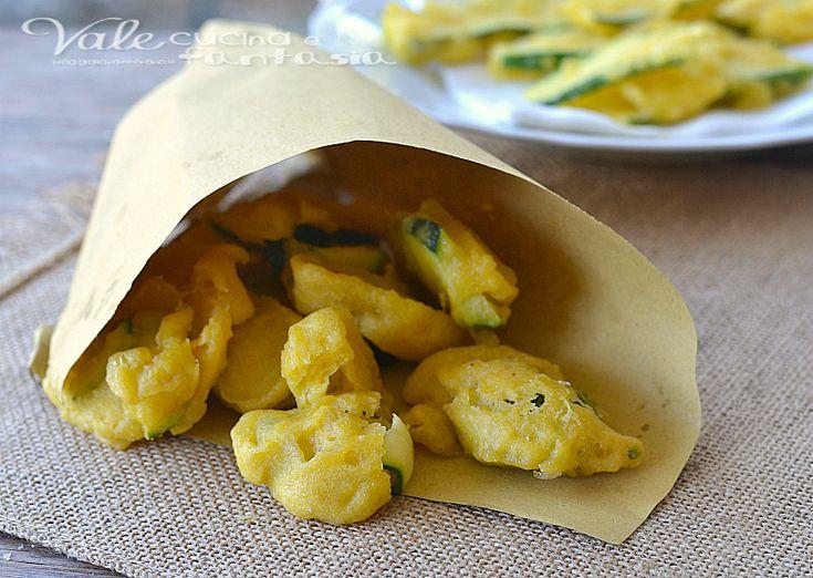 Frittelle di zucchine con pasta lievitata