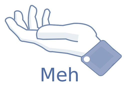 proposed 'meh' button button for facebook.