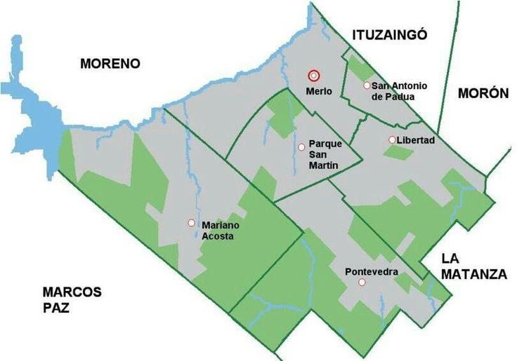 Mapa de Merlo . Mapa de Merlo con todas sus localidades