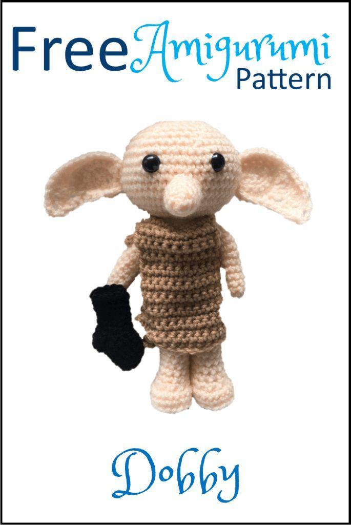 Free Dobby The House Elf Amigurumi Pattern Häkeln Freie