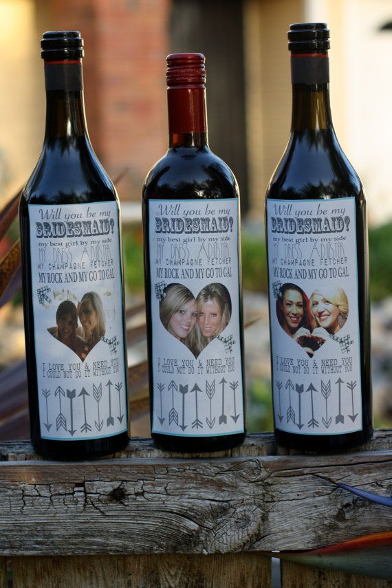 Will You Be My Main Bitch Wedding Wine Labels Bridesmaid