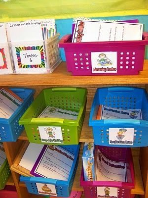 Great ideas on how to set up math and literacy stations.