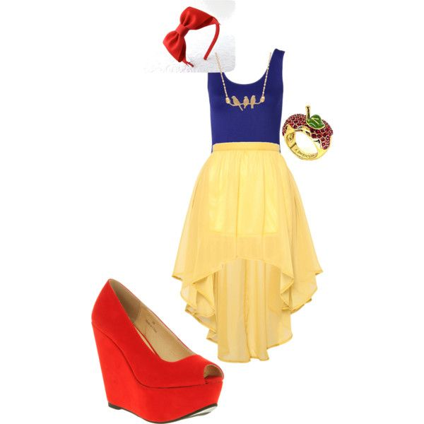 Modern Disney Princess- Snow White by alison-vanorden on Polyvore featuring Witchery, Glamorous, Office, Disney Couture and modern