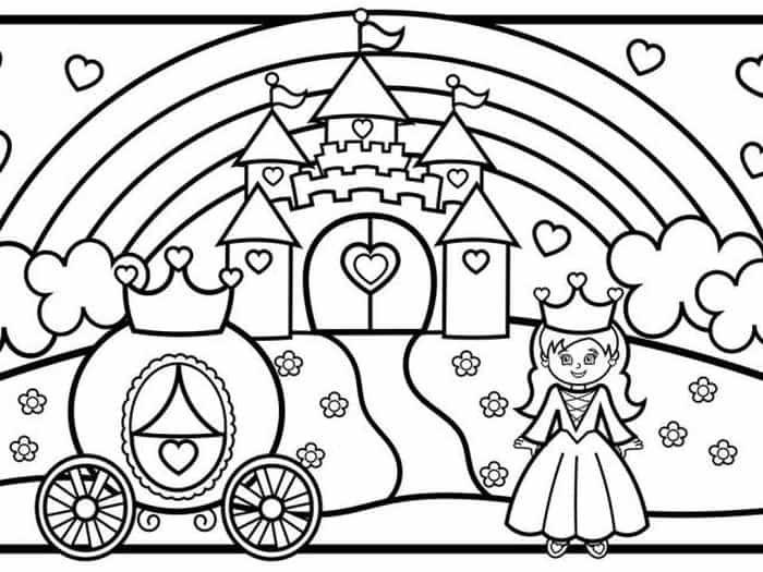 Princess Castle Colouring Page Castle Coloring Page Coloring Pages Princess Castle