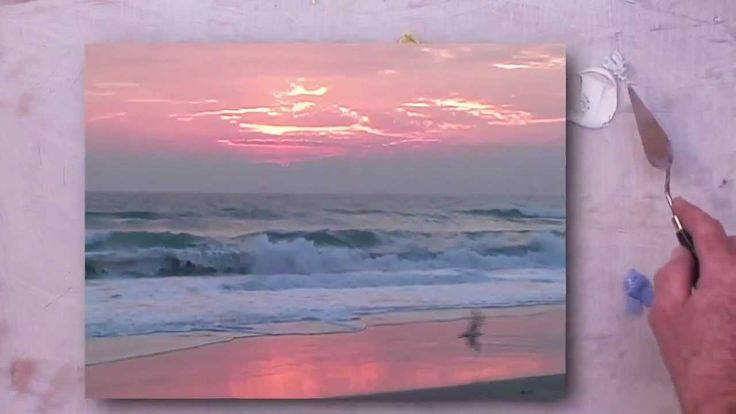 http://www.ArtLessonVideos.com In this tutorial, Michael Lewis shows how to paint ocean waves at dawn. Visit our website for more free videos. http://www.Art...